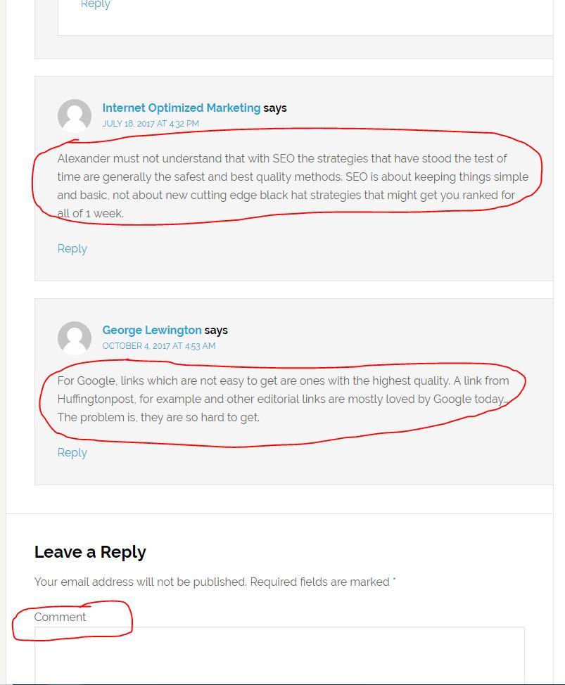 Blog Commenting For Link Building