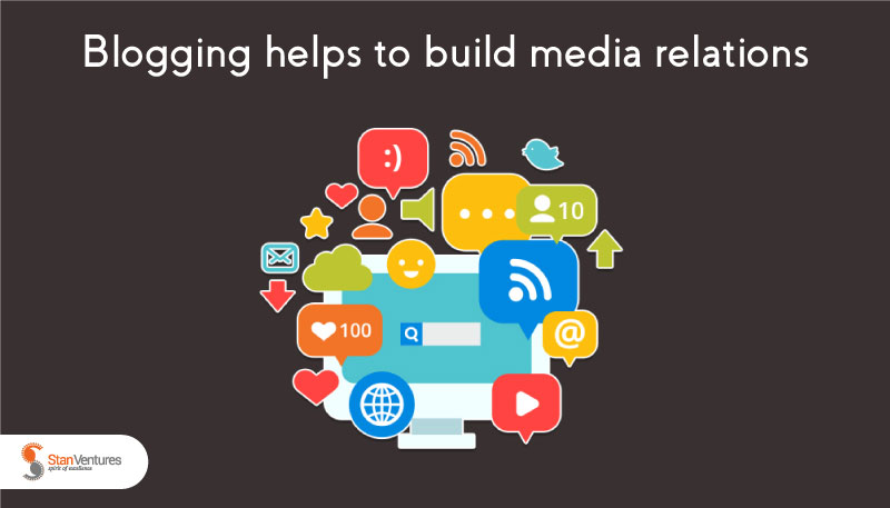 Blogging helps to build media relations