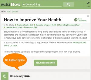 EAT Quality - Add author byline to all blog posts