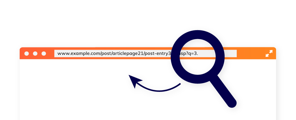 Image of a browser tab with URL to represent URL Optimization