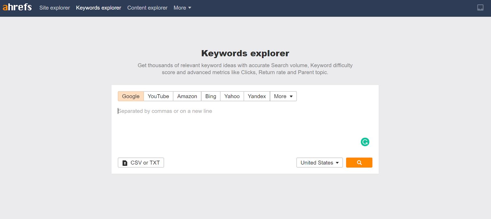 Keyword Explorer: