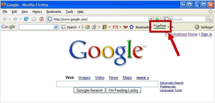 old pagerank toolbar