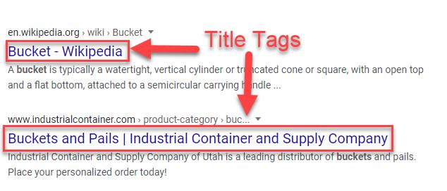 Optimize title tag